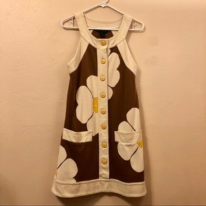 Marc by Marc Jacobs Brown Cotton Daisy Print Dress